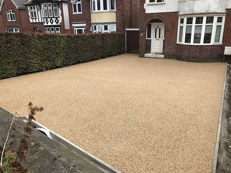 sandy coloured resin drive in stockport