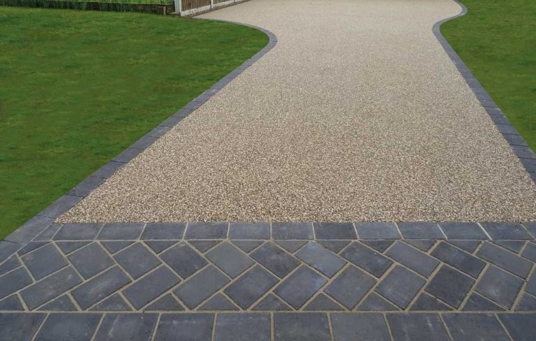 resin driveway with brick edging